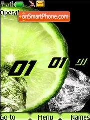 Скриншот темы Lemon freshness