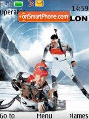 Biathlon theme screenshot