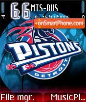 Detroit Pistons theme screenshot