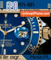 Rolex Watch theme screenshot