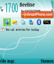 Скриншот темы Turquoise