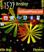 Flower Art def theme screenshot