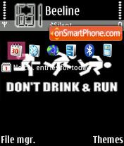 Dont Drink theme screenshot