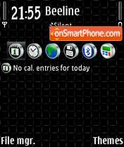 Скриншот темы Black 11