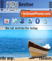 Скриншот темы Boat On Beach