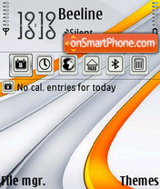 Orange L theme screenshot