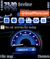 Speedometer QVGA 01 theme screenshot