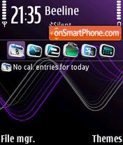 Sound waves purple 3D FP1 theme screenshot