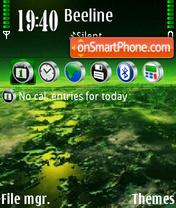 Green planet theme screenshot