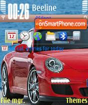 Red Porsche 01 theme screenshot