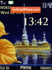 Скриншот темы Autumn in St.Petersburg swf+anim