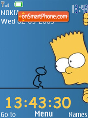 Bart Simpsons theme screenshot