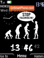 Evolution Clock es el tema de pantalla