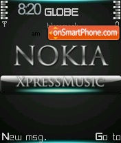 Nokia Xpress Music 06 theme screenshot