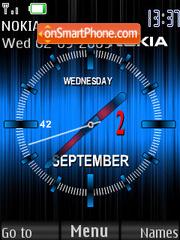 Nokia Analog Blue theme screenshot