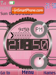 Digital Clock Theme-Screenshot