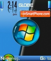 Vista Black Blue theme screenshot