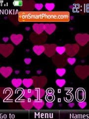 Hearts clock flash anim theme screenshot