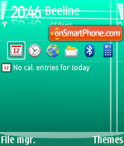CyanTouch theme screenshot