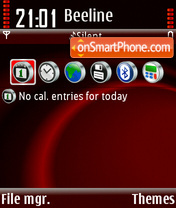 Red 10 theme screenshot