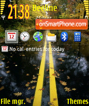 Autumn road 01 tema screenshot