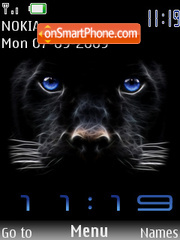 Swf Clock Panther theme screenshot