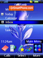 Blue Rose theme screenshot