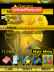 Golden Flower theme screenshot