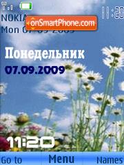 Swf w.flowers animated theme screenshot