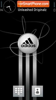 Adidas Black tema screenshot