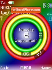 Swf Clock Circle tema screenshot