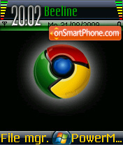 Chrome theme screenshot