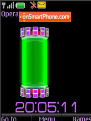 Скриншот темы Clock $ battery