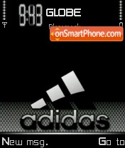 Black Gloss Adidas tema screenshot