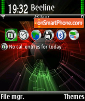 Color abstrakt 01 theme screenshot