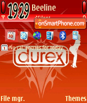 Скриншот темы Red durex 01