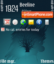 Blue tree theme screenshot