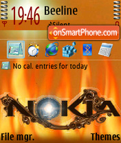 Nokiaflame theme screenshot