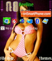 Brunette girl theme screenshot