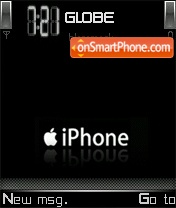 Скриншот темы Iphone Black V8