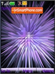 Ads lilac animated theme screenshot