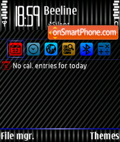 Blue texture theme screenshot