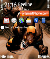 Wolverine Dark es el tema de pantalla
