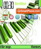 Greenpiano theme screenshot