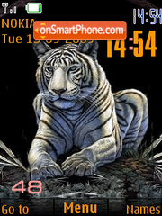 Tiger SWF clock theme screenshot