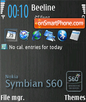 Symbians60 theme screenshot