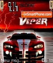 Скриншот темы Dodge Viper x1