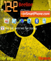 Radioactive phone tema screenshot