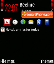 Black&Red 3.0 theme screenshot