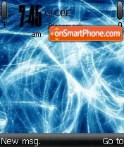 Blue Swirls Reloaded theme screenshot